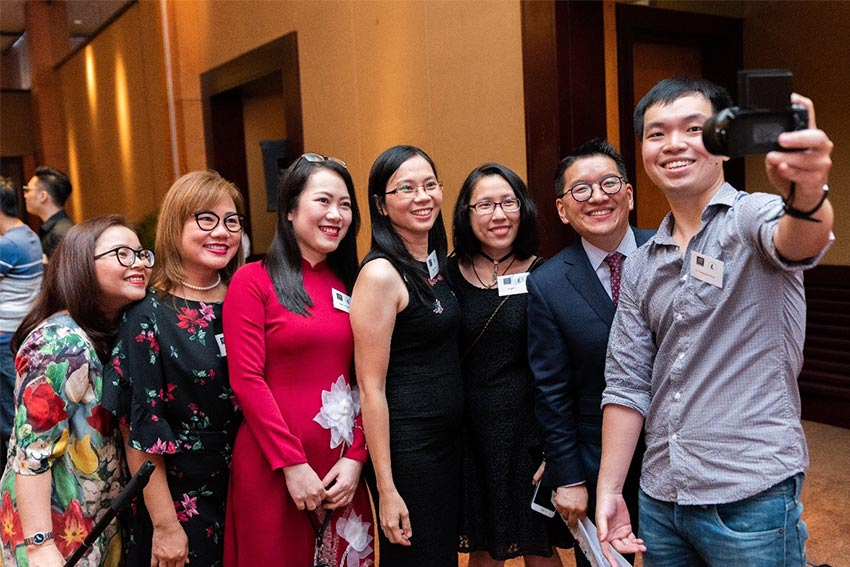 Graduates at the AUT Vietnam event