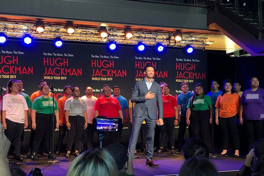 Hugh Jackman at AUT South Campus