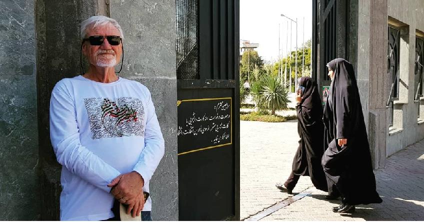 David R at Mashhad's Ferdowsi Uni