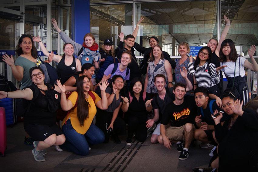 AUT students embrace the world