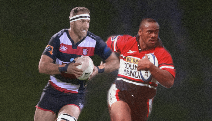 Jonah Lomu and Kieran Read in action