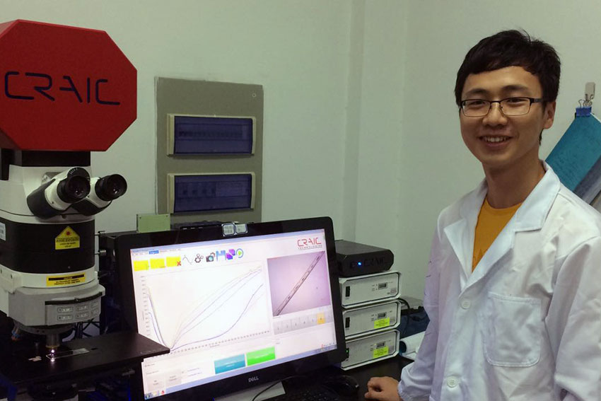 AUT biomedical engineering PhD student Xiyong Huang