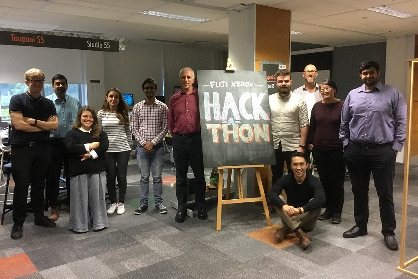 Students taking part in Hackathon