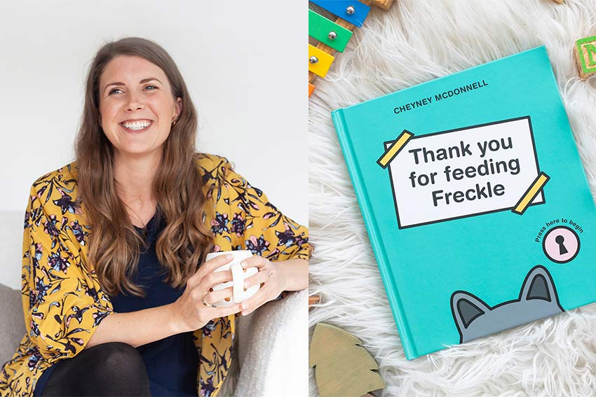 thank-you-for-feeding freckle - children's book