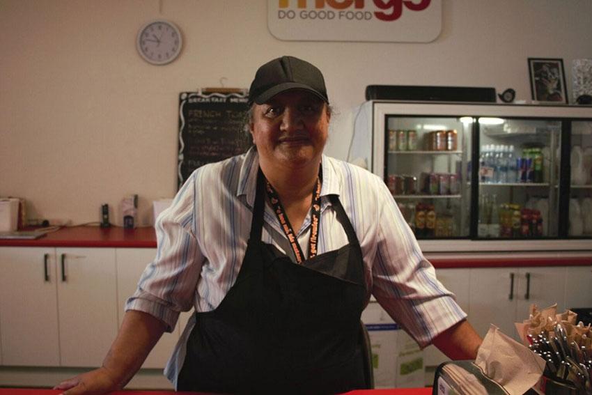 Merge Café volunteer Te Huia