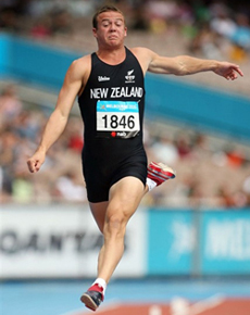 AUT's Brent Newdick competing in the 2006 Commonwealth Games