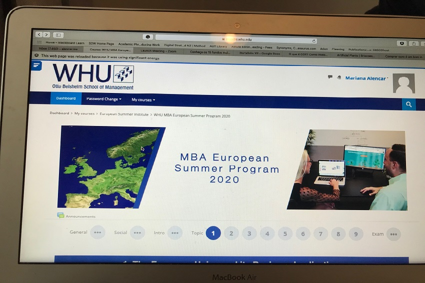 WHU MBA summer program