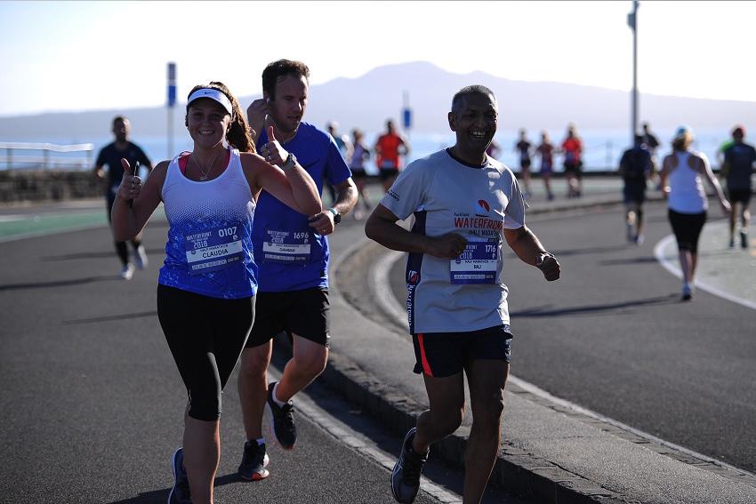 Claudia Raven running a half-marathon