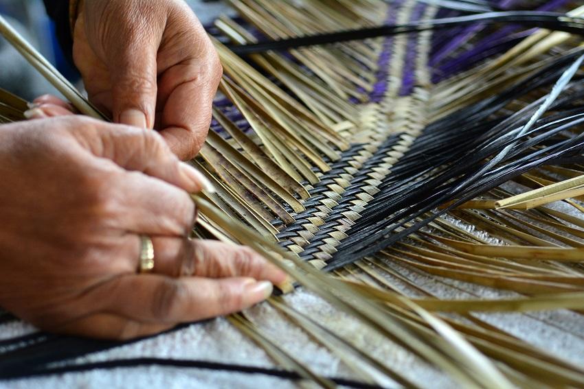 Flax weaving