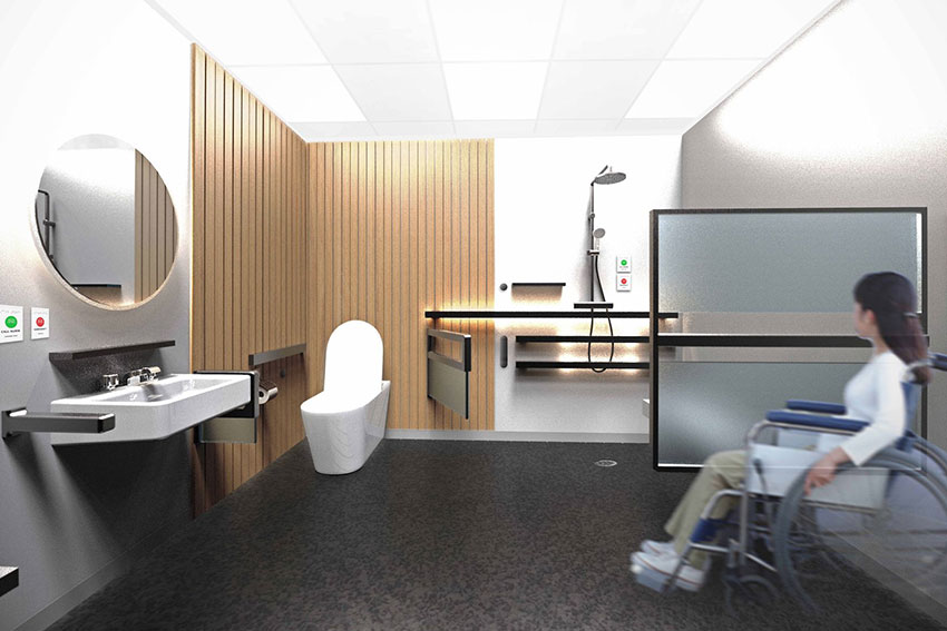 A re imagined elective surgery ward bathroom