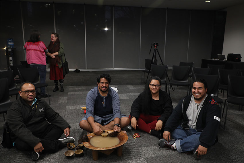 Opening the session with a kava circle
