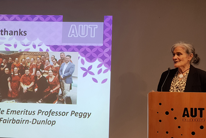 Tagaloatele Emeritus Professor Peggy Fairbairn-Dunlop