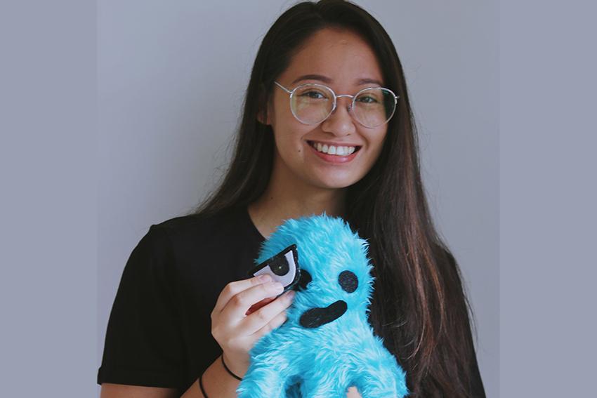 Megan Buyn with prototype