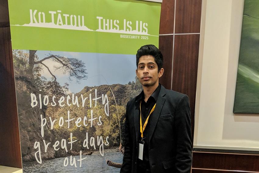 Business student Trishul Raj