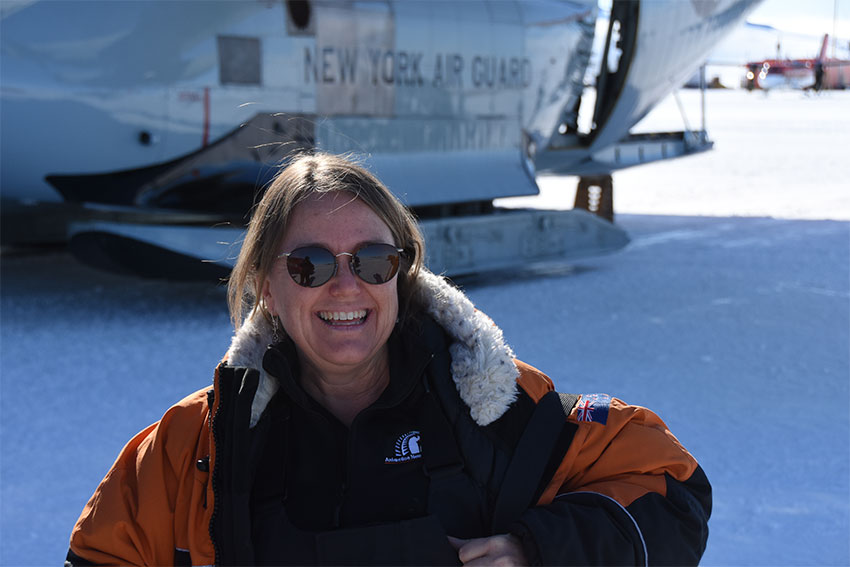 Associate Professor Barbara Bollard in Antarctica