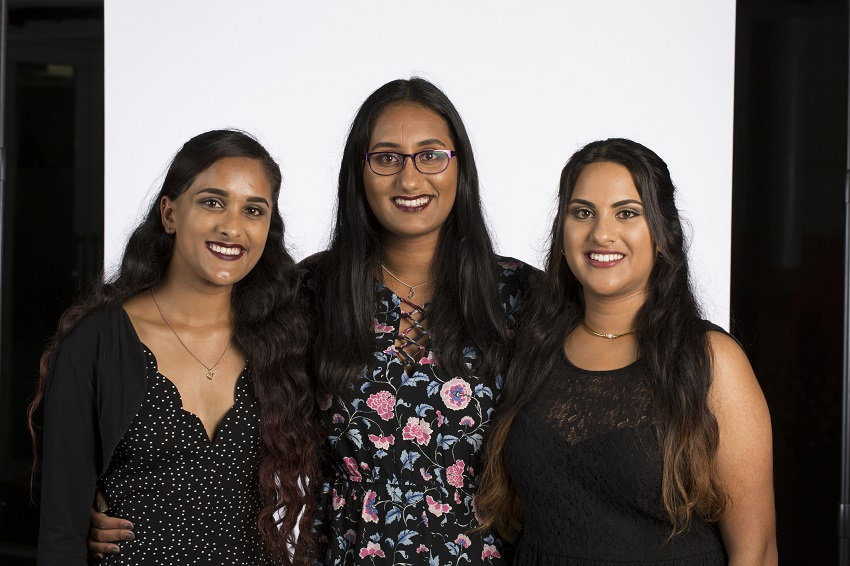 Triplets Chloe, Roselle and Chanel Samaratunga