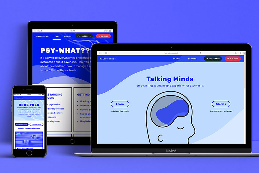 A new website, Talking Minds