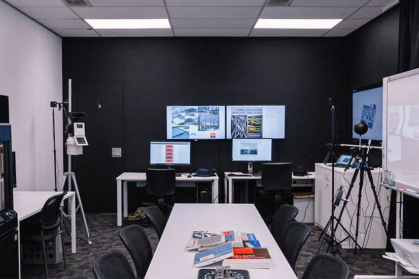 A section of the newly-established Architectural Engineering Lab at AUT.